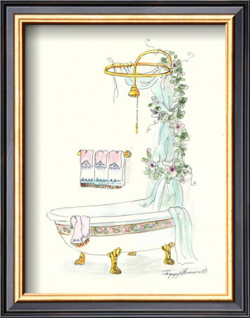 Tubs With Curtains, Bathtime Opulence by Peggy Abrams Pricing Limited Edition Print image
