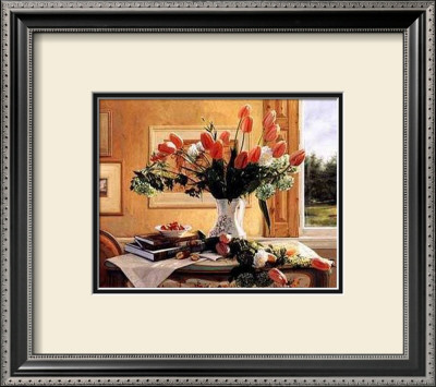 French Tulips And Crab Apple by Robin Anderson Pricing Limited Edition Print image