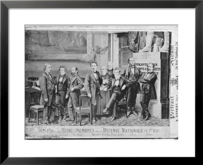 Seine Deputies, Members Of The National Defence Government On 4Th September 1870, 1870 by Eugene Appert Pricing Limited Edition Print image