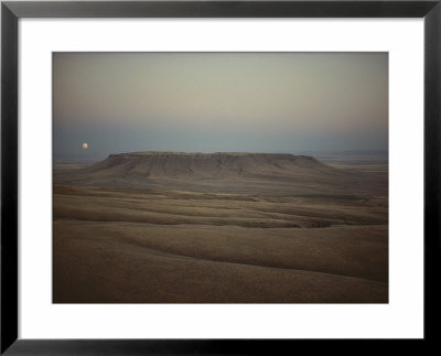 Moonlight Gilds Montanas Square Butte by Sam Abell Pricing Limited Edition Print image