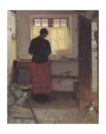 Girl In The Kitchen by Anna Kirstine Ancher Pricing Limited Edition Print image