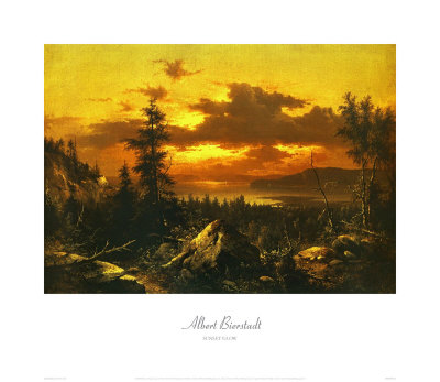Sunset Glow by Albert Bierstadt Pricing Limited Edition Print image