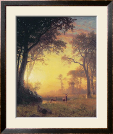 Light In The Forest by Albert Bierstadt Pricing Limited Edition Print image