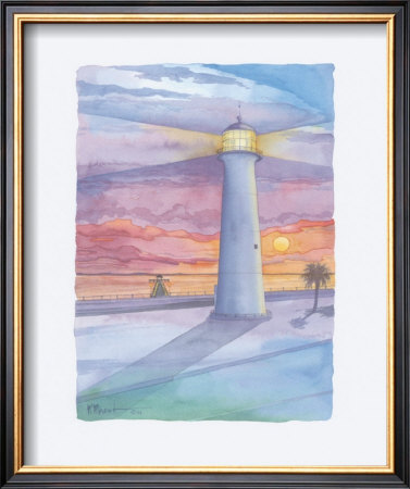 Lighthouse  Biloxi Ms by Paul Brent Pricing Limited Edition Print image