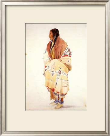Chan-Cha-Uia-Teuin, Teton Woman by Karl Bodmer Pricing Limited Edition Print image