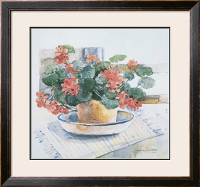 Geraniums, 1986 by Dawna Barton Pricing Limited Edition Print image