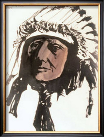 Sleeping Bear, Sioux by Leonard Baskin Pricing Limited Edition Print image