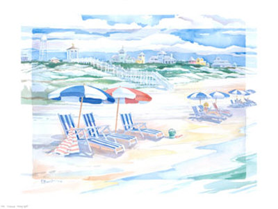 Seaside  Shady Spot by Paul Brent Pricing Limited Edition Print image