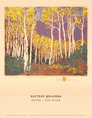 Aspen, Red River by Gustave Baumann Pricing Limited Edition Print image