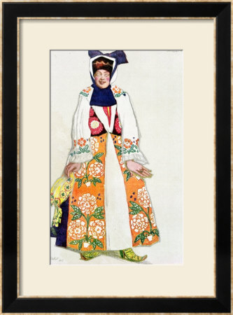 Costume Design For A Peasant Woman, From Sadko, 1917 by Leon Bakst Pricing Limited Edition Print image