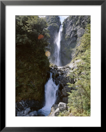 Devils Punchbowl Falls, 131M High, On Walking Track In Mountain Beech Forest, Southern Alps by Jeremy Bright Pricing Limited Edition Print image