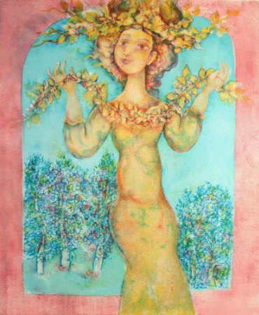 Femme Au Chapeau Fleuri by Sakti Burman Pricing Limited Edition Print image