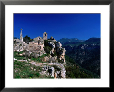 Church In Cliff-Top Village, Siurana, Catalonia, Spain by Anders Blomqvist Pricing Limited Edition Print image