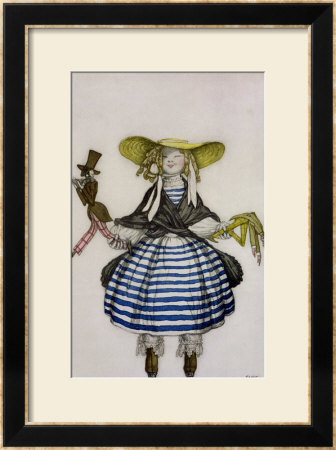 Costume For The Puppet Girl, From La Boutique Fantastique, 1917 by Leon Bakst Pricing Limited Edition Print image