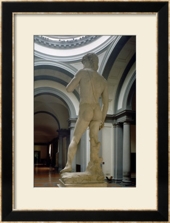 David, View From Behind, 1504 by Michelangelo Buonarroti Pricing Limited Edition Print image