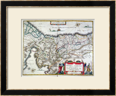 Map Of The Holy Land, Published In Amsterdam, 1629 by Willem Janszoon Blaeu Pricing Limited Edition Print image