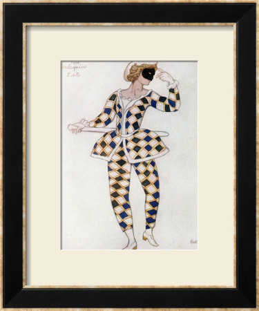 Costume Design For Harlequin, From Sleeping Beauty, 1921 by Leon Bakst Pricing Limited Edition Print image