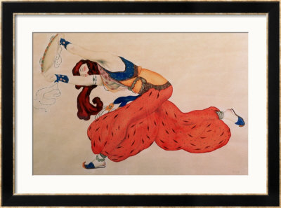 A Study For A Figure Of A Dancer For Scheherazade by Leon Bakst Pricing Limited Edition Print image