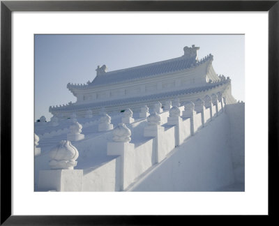 Forbidden City Made Of Snow And Ice Slide, Ice And Snow Festival, Harbin, Heilongjiang, China by Walter Bibikow Pricing Limited Edition Print image