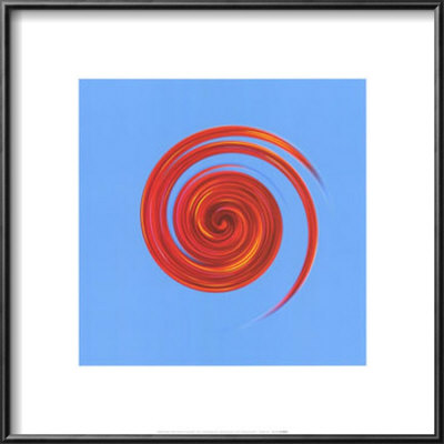 Whirl #3 Red On Sky Blue by Michael Banks Pricing Limited Edition Print image
