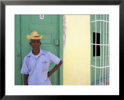 Portrait Of Man, Old Colonial Village, Trinidad, Cuba by Bill Bachmann Pricing Limited Edition Print image