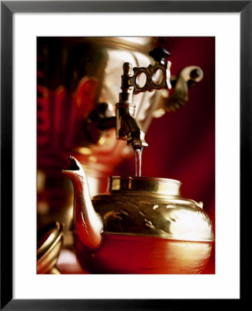Water Running Out Of Samovar Into A Pot by Michael Boyny Pricing Limited Edition Print image