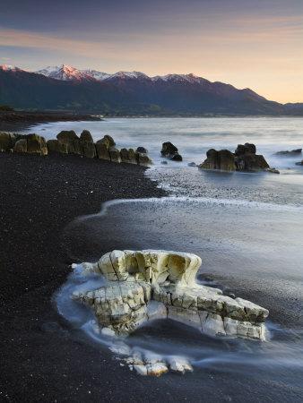 Sunrise On The Kaikoura Peninsula, Kaikoura, South Island, New Zealand, Pacific by Adam Burton Pricing Limited Edition Print image