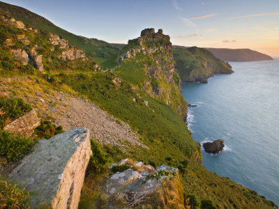 Valley Of The Rocks, Exmoor National Park, Devon, England, United Kingdom, Europe by Adam Burton Pricing Limited Edition Print image