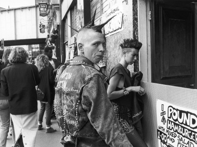 Two Punks Buy Burgers - Camden, London by Shirley Baker Pricing Limited Edition Print image