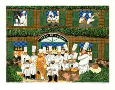 Ecole De Cuisine by Guy Buffet Pricing Limited Edition Print image
