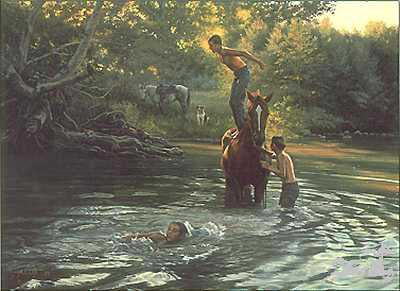 Swimming Hole by Tim Cox Pricing Limited Edition Print image