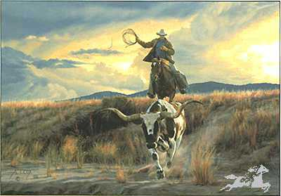 Bringing Home Ranchpet by Tim Cox Pricing Limited Edition Print image