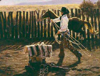 In Bronc Corral by Tim Cox Pricing Limited Edition Print image