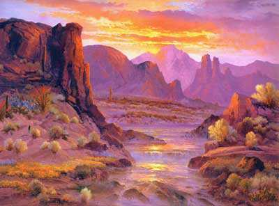 Sunset Rapids by Beverly Carrick Pricing Limited Edition Print image