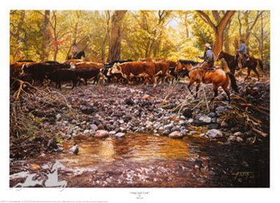 Along Eagle Creek by Tim Cox Pricing Limited Edition Print image