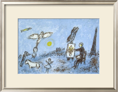 Le Peintre Et Son Double by Marc Chagall Pricing Limited Edition Print image