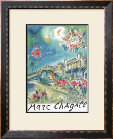 La Baie De Anges by Marc Chagall Pricing Limited Edition Print image