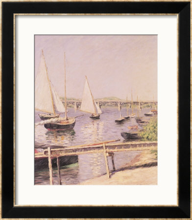 Sailing Boats At Argenteuil, Circa 1888 by Gustave Caillebotte Pricing Limited Edition Print image