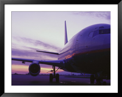 Canadian Air 737 At Sunrise, Vancouver, Canada by Stewart Cohen Pricing Limited Edition Print image