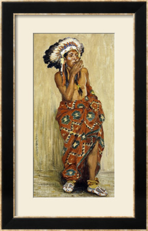 Indian With Blanket by Eanger Irving Couse Pricing Limited Edition Print image