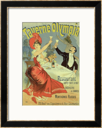 Jules Chéret Reproduction Of A Poster Advertising The ...