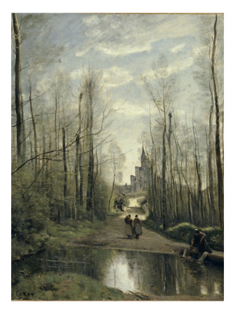 The Church At Marissel, Near Beauvais, 1866 by Jean-Baptiste-Camille Corot Pricing Limited Edition Print image