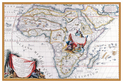 Map Of Africa by Vincenzo Coronelli Pricing Limited Edition Print image