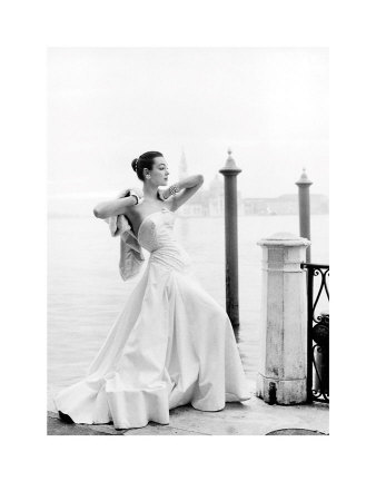 Evening Dress In Venice by Henry Clarke Pricing Limited Edition Print image