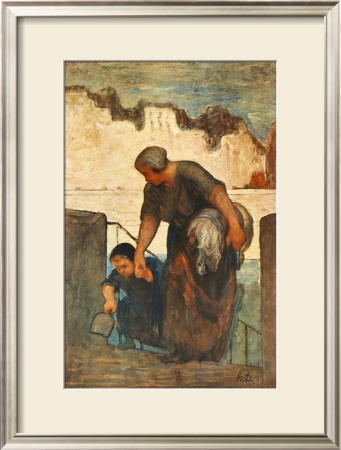 The Laundress by Honore Daumier Pricing Limited Edition Print image