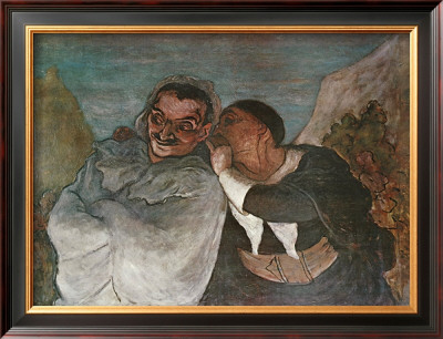 Crispin And Scapin by Honore Daumier Pricing Limited Edition Print image