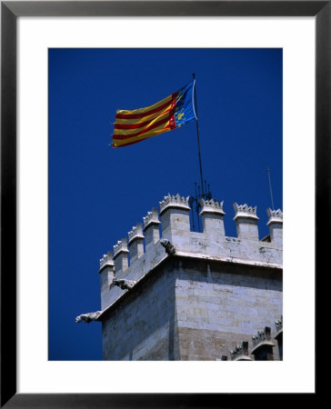 Flag Flies Over The 15Th Century Lonja Silk And Commodity Market, Valencia, Spain by Johnson Dennis Pricing Limited Edition Print image