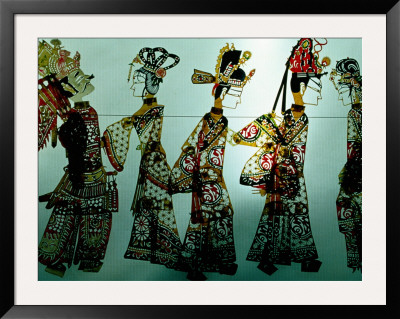 Traditional Shadow Puppets Cut From Leather In Muslim Quarter, Xi'an, China by Krzysztof Dydynski Pricing Limited Edition Print image