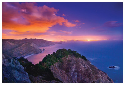 San Francisco From Muir Beach Overlook by Harold Davis Pricing Limited Edition Print image