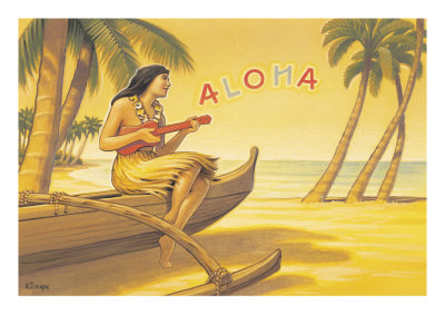 Aloha Serenade by Kerne Erickson Pricing Limited Edition Print image